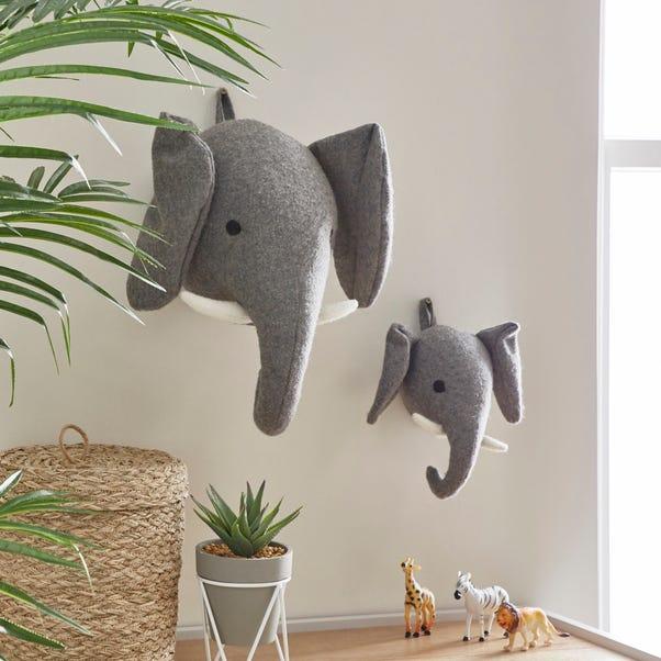 Elephant Wall Head Grey undefined