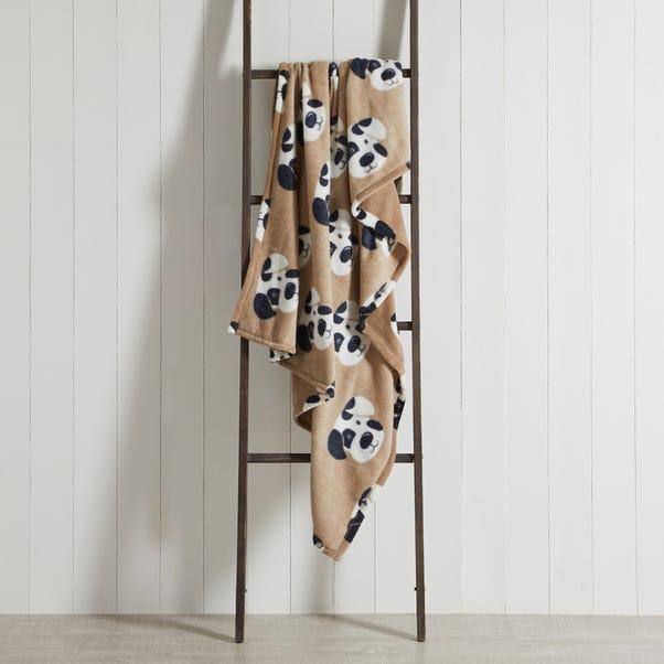 Dalmatian Print Fleece Natural 130cm x 170cm Throw Natural