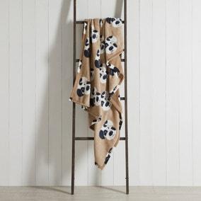 Dalmatian Print Fleece Natural 130cm x 170cm Throw