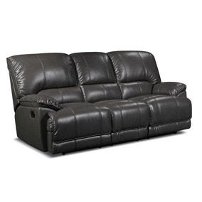 Pippa PU Leather Reclining 3 Seater Sofa