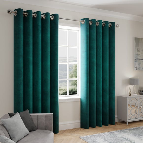 Stellar Thermal Teal Eyelet Curtains  undefined