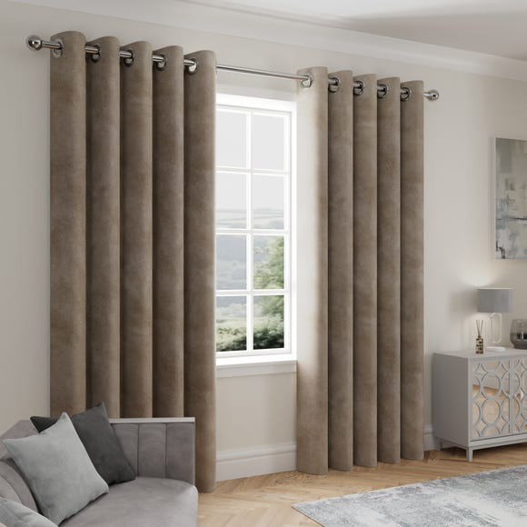 Stellar Thermal Mink Eyelet Curtains  undefined