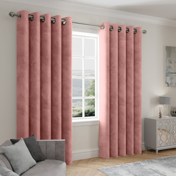 Stellar Thermal Rose Eyelet Curtains  undefined
