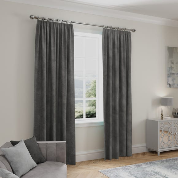 Stellar Thermal Charcoal Pencil Pleat Curtains  undefined
