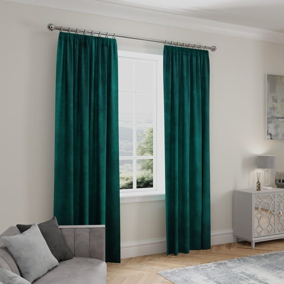 Stellar Thermal Teal Pencil Pleat Curtains  undefined