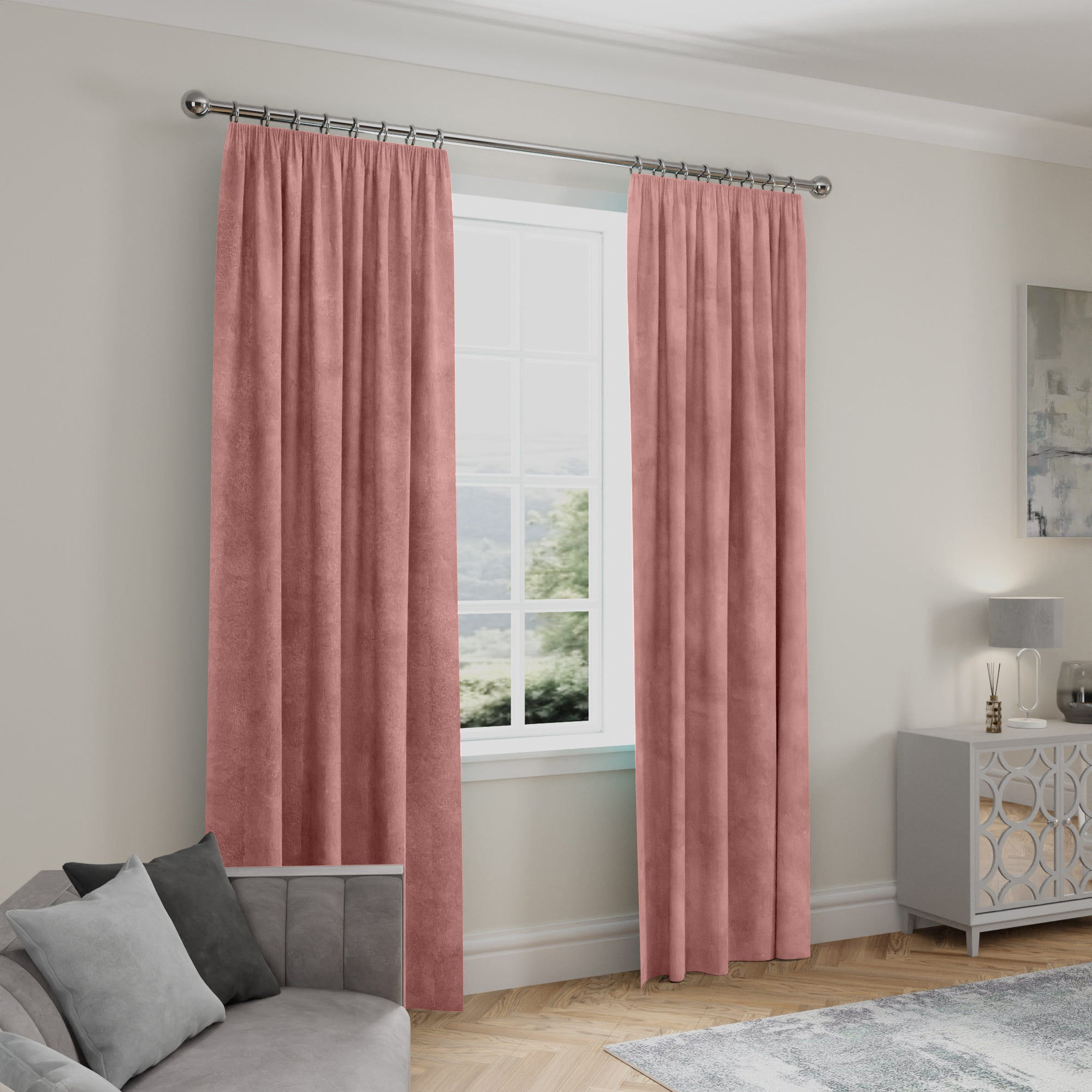 Click to view product details and reviews for Stellar Thermal Rose Pencil Pleat Curtains Rose Pink.