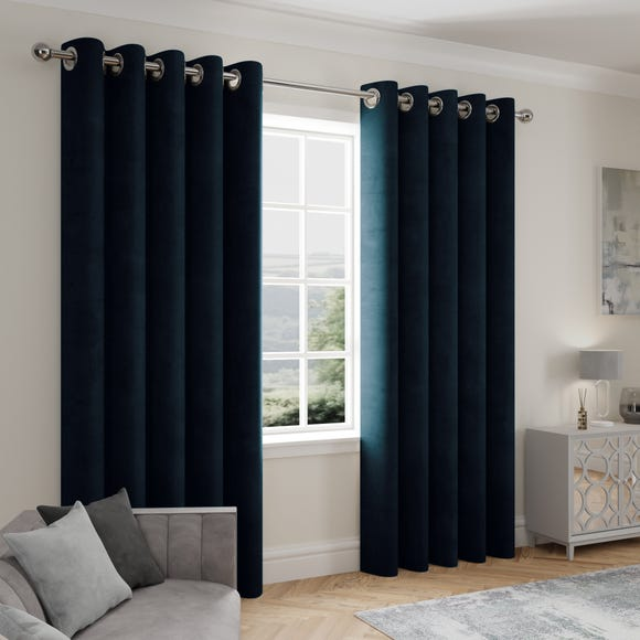 Stellar Thermal Navy Eyelet Curtains  undefined