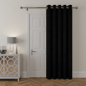Stellar Thermal Black Door Curtain