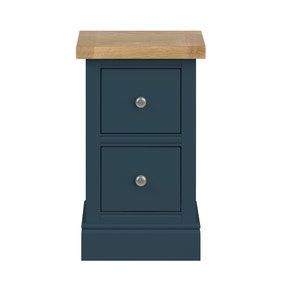 Compton Blue Slim Bedside Table