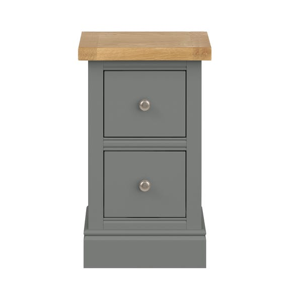 Compton Slate Slim Bedside Table Slate (Grey)