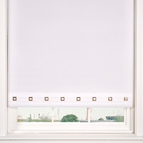 Square Eyelet White Roller Blind