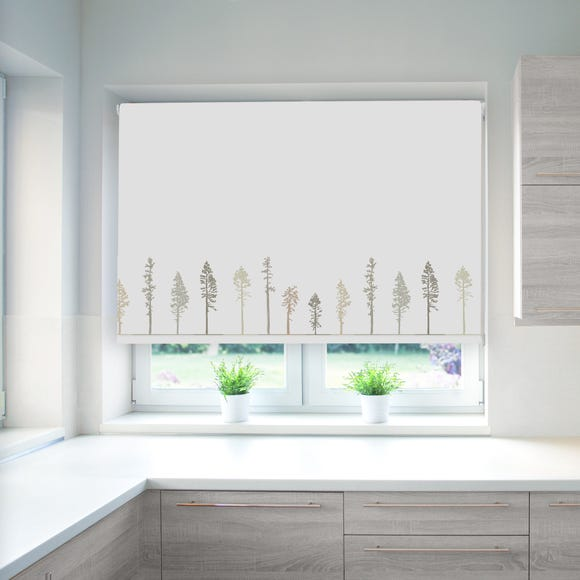 Tree Natural Blackout Roller Blind Natural undefined