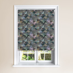 Jungle Pewter Blackour Roller Blind