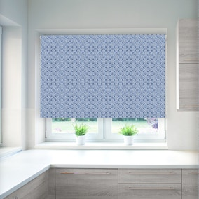 Tile Indigo Blackout Roller Blind