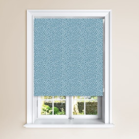 Speckle Teal Blackout Roller Blind
