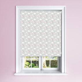 Pink Cloudscape Blackout Roller Blind