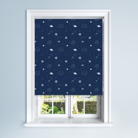 Navy Galaxy Blackout Roller Blind