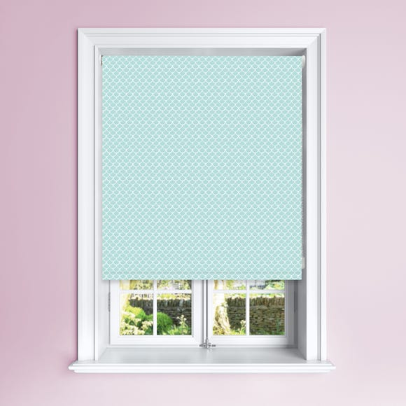 Turquoise Mermaid Blackout Roller Blind turquoise undefined