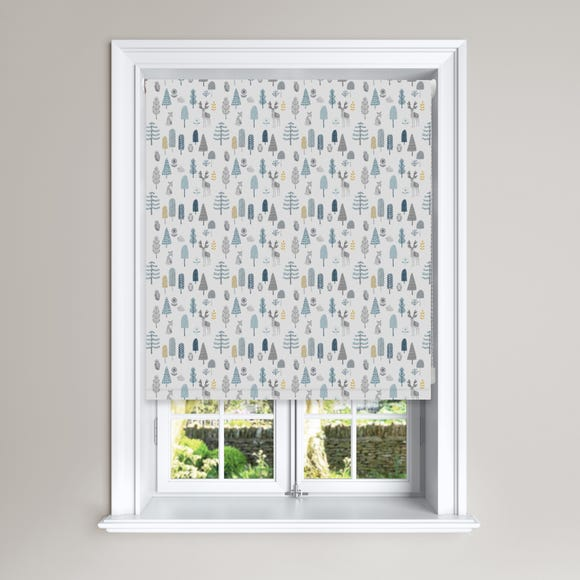 Grey Scandi Forest Black Out Roller Blind  undefined