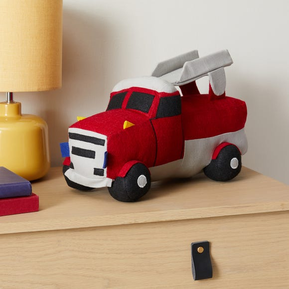 Knitted Fire Engine Toy Red