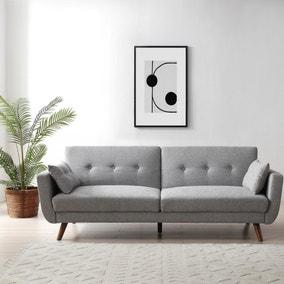 Bobby Grey 3 Seater Sofa Bed