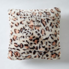 Leopard Faux Fur Apricot Cushion