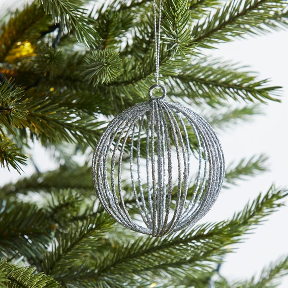 Silver Round Wire Bauble Silver