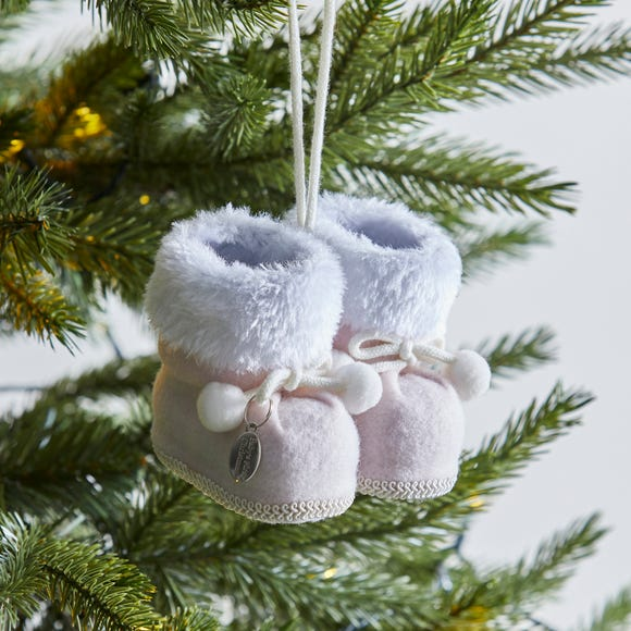 My 1st Christmas Pink Boots Decoration ONLY £3 @ Dunelm