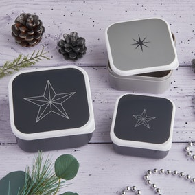 Sparkle and Shine Set of 3 Snack Boxes