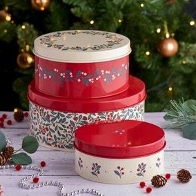 Crafted Christmas Cake Tins