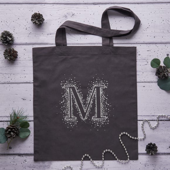 Monogram Cotton Shopping Bag