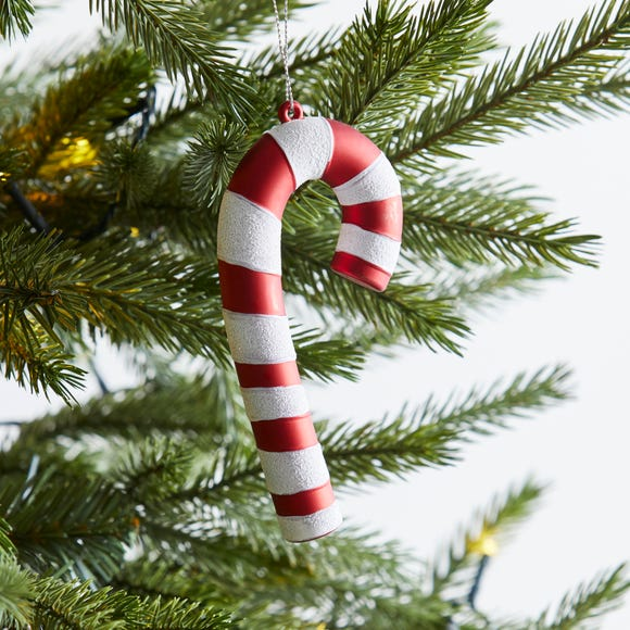 Candy Cane Tree Decoration Red
