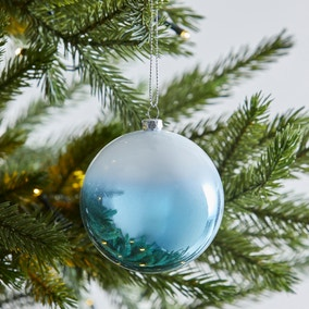 Blue and White Ombre Bauble
