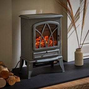 Small Grey Stove Heater