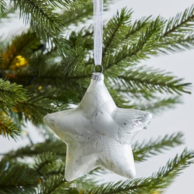 Glass Star Shaped Bauble