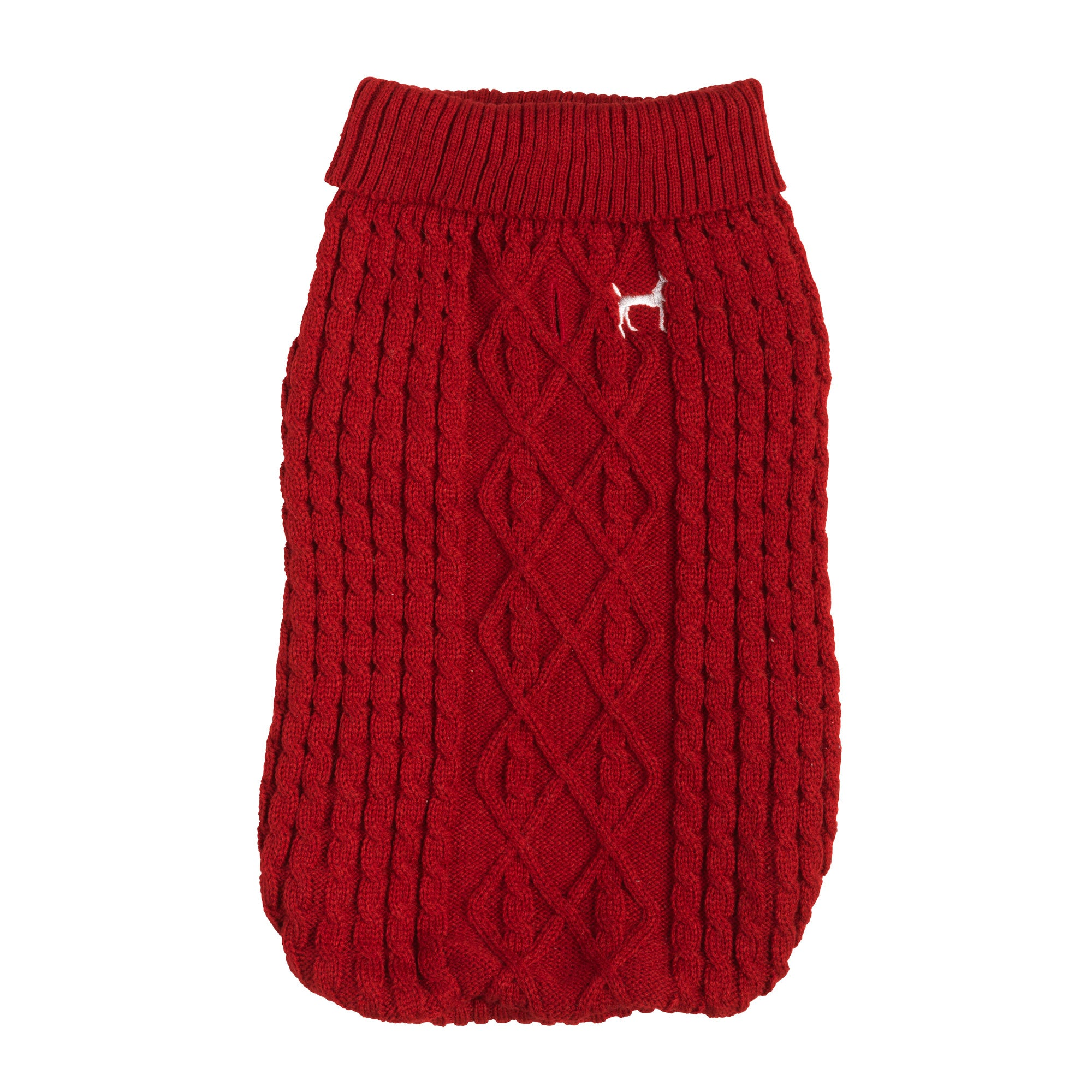 House of Paws Red Dog Jumper Red