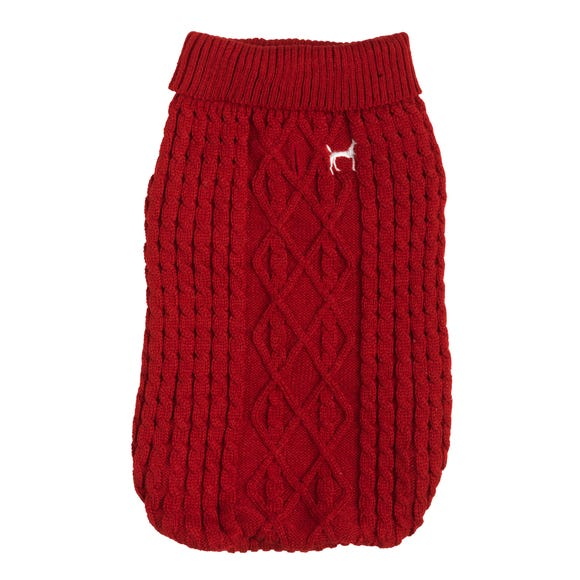 House of Paws Red Dog Jumper  undefined