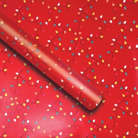 6m Recyclable Fairy Lights Extra Wide Wrapping Paper