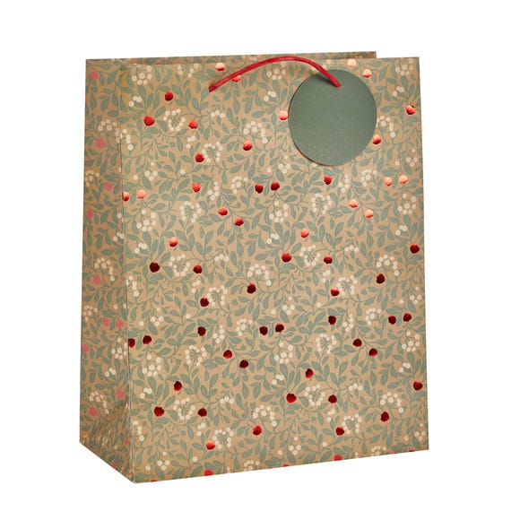 Berry Large Recyclable Gift Bag With Foiling MultiColoured