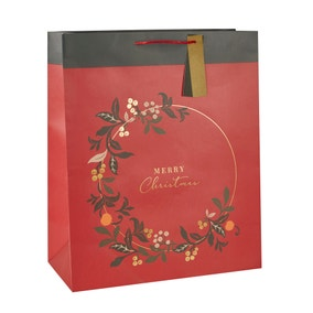 Crafted Merry Christmas Extra Large Recyclable Gift Bag