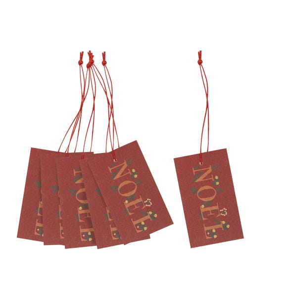 Recyclable Noel Gift Tags Red