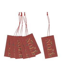 Crafted Christmas Noel Recyclable Gift Tags