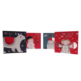 Pack of 16 Festive Folk Recyclable Cards