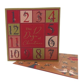 Pack of 4 12 Days of Christmas Recyclable Cards