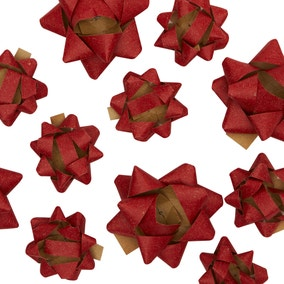 Pack of 25 Festive Folk Assorted Recyclable Bows