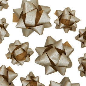 25 Recyclable Silver Assorted Bows