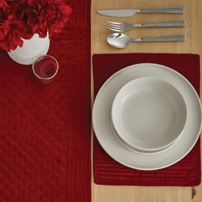 Red Velvet Quilted Placemat