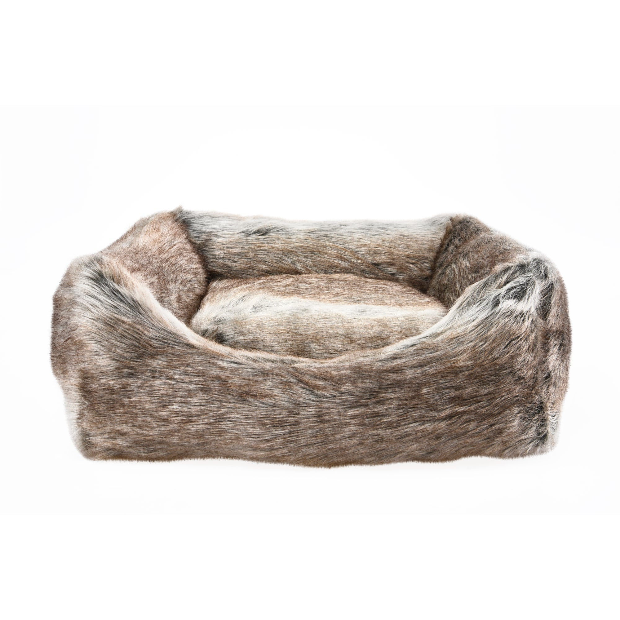 Faux Fur Pet Bed Brown