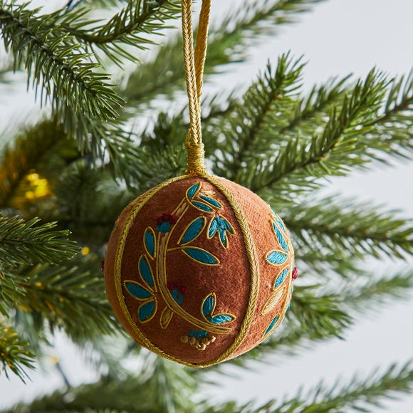 Gold Embroidered Bauble MultiColoured