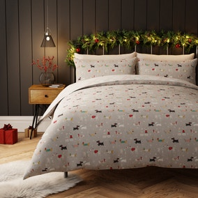 Bertie and Friends Grey Duvet Cover and Pillowcase Set